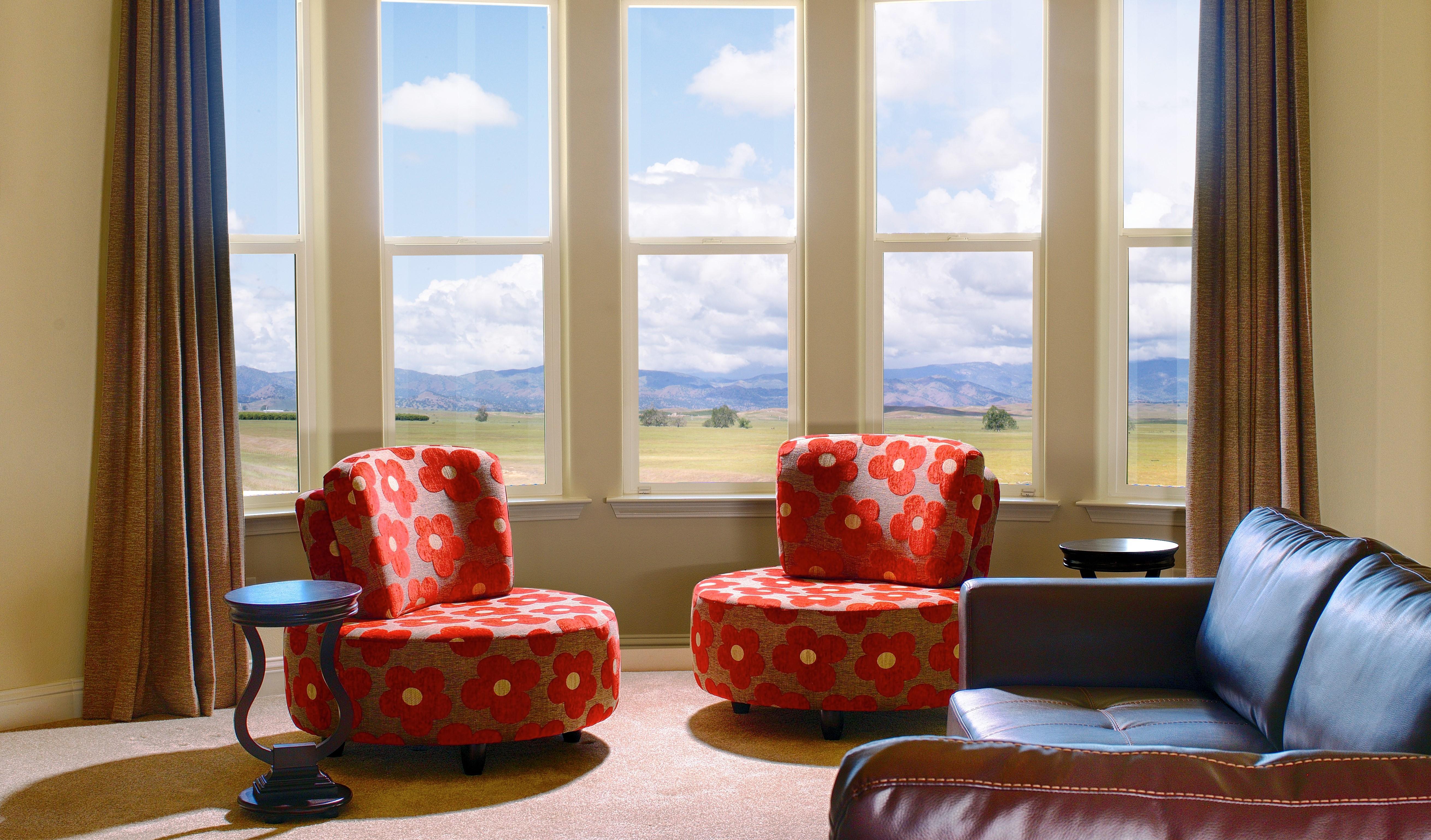monte verde bay windows in living room