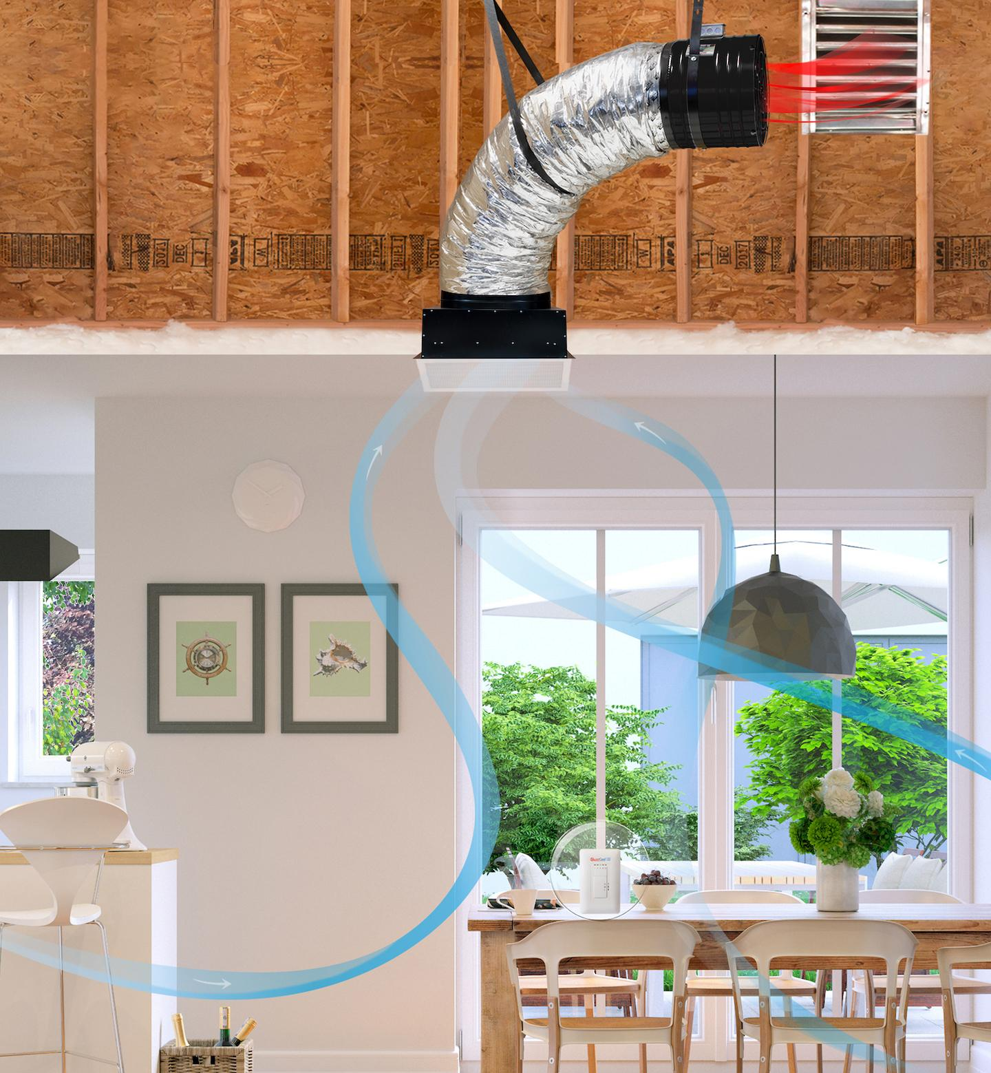 attic fans cool down the house