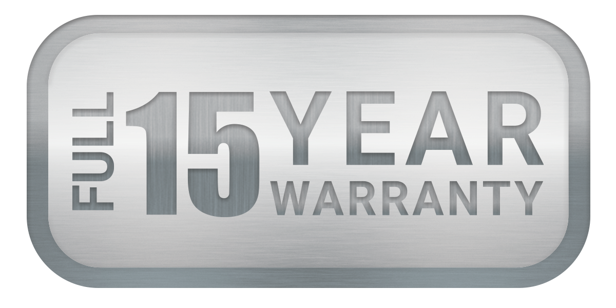 QuietCool 15 year warranty symbol