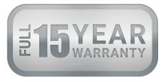QuietCool 15 year warranty symbol