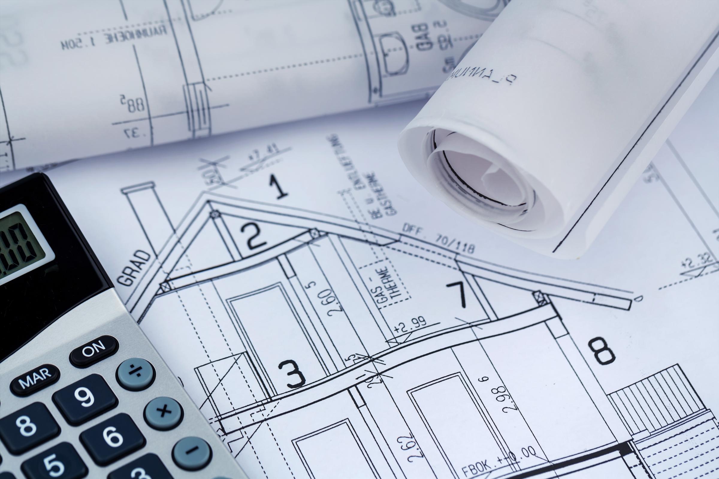 New home construction blueprints