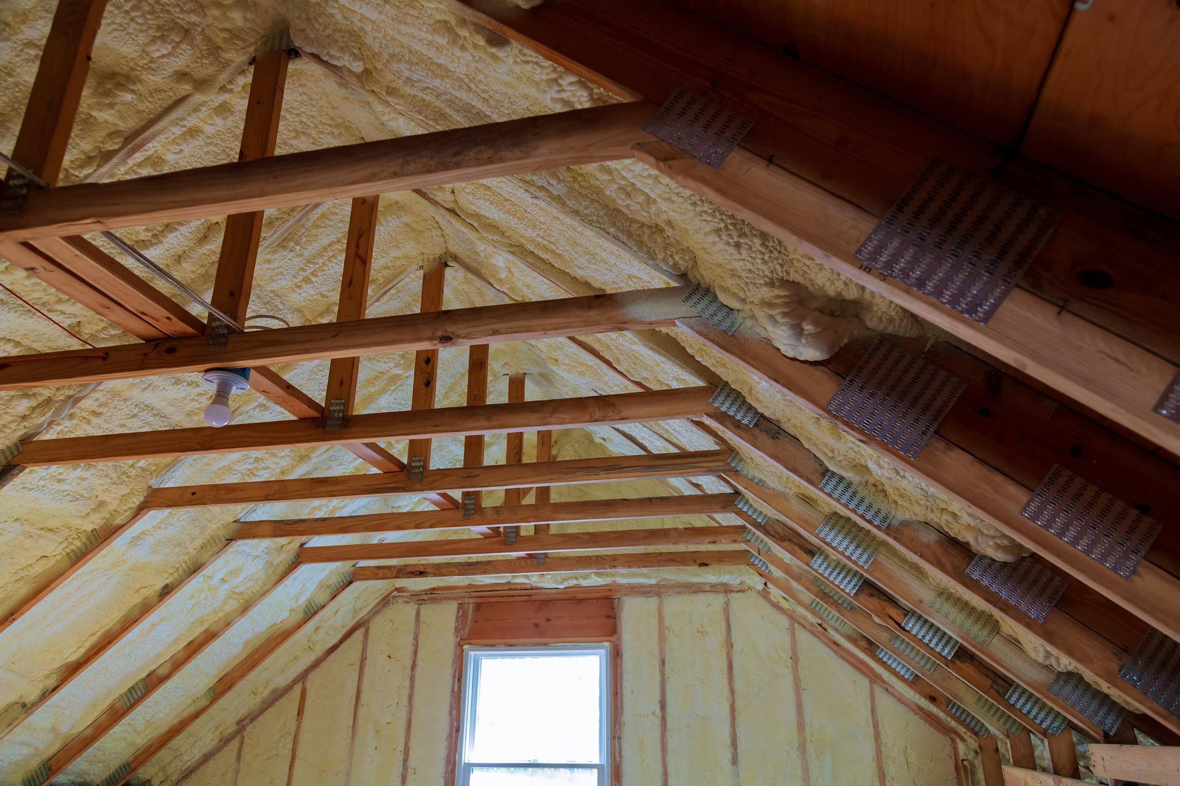 environmentally friendly insulation in attic